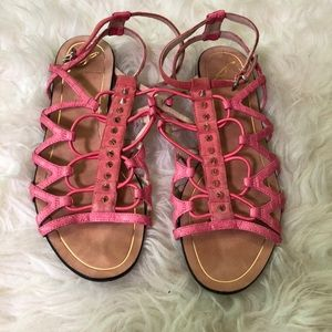🌷Brian Atwood Studded Pink Gladiator Sandal🌷